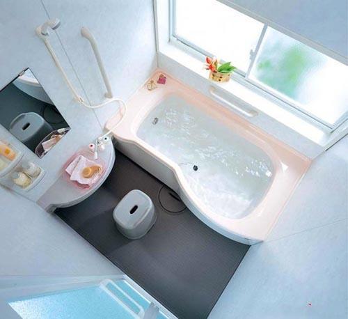 افكار وتصميمات ديكورات حمامات صغيرة المساحة بالصور
