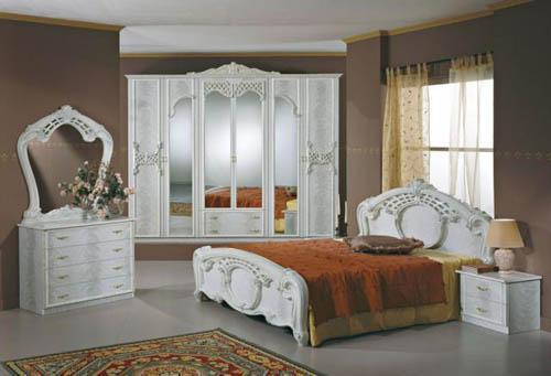 تصاميم غرف نوم ايطالية كلاسيك فخمة بالصور