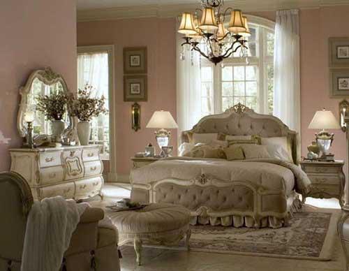 : غرف نوم تصميم كلاسيكي : غرف