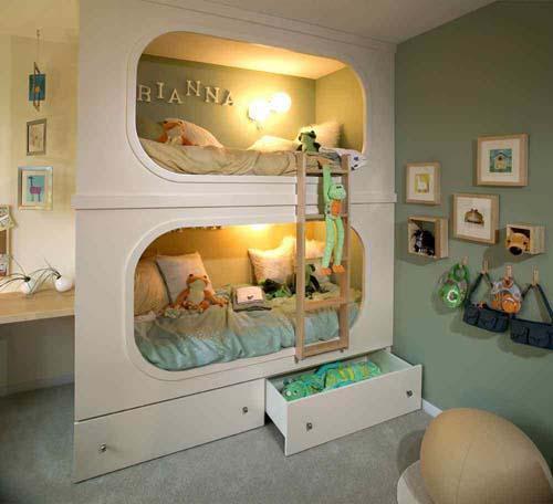 اشكال وافكار تصميمات سرير اطفال موردن بالصور