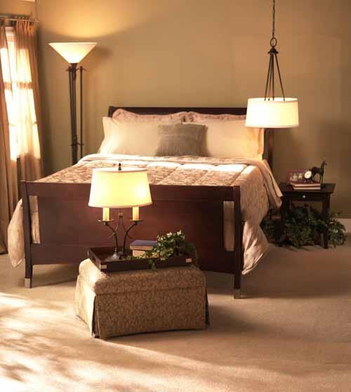 احدث ديكورات اضاءة غرف النوم بالصور