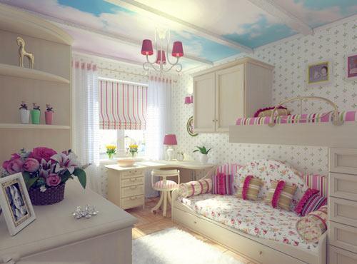 افكار ديكورات غرف نوم بنات بالصور   ماجيك بوكس