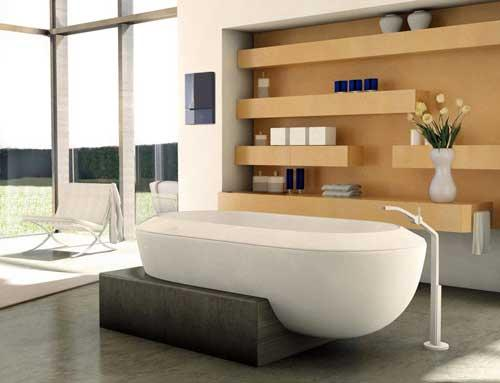 صور - احدث تصميمات البانيو او حوض الاستحمام بالصور