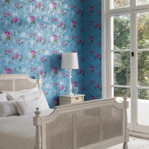 صور - احدث تصميمات ورق جدران غرف النوم