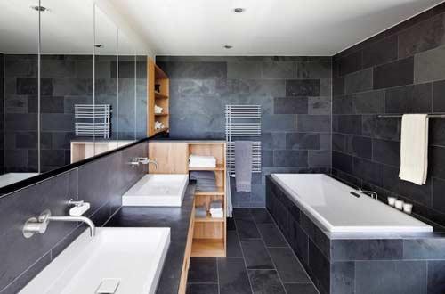 صور - كيف تصمميين ديكور حمام مذهل ونظيف