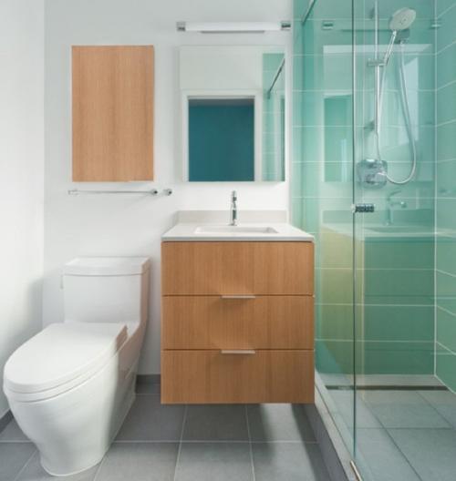 صور - كيفية استغلال المساحة فى حمامات صغيرة