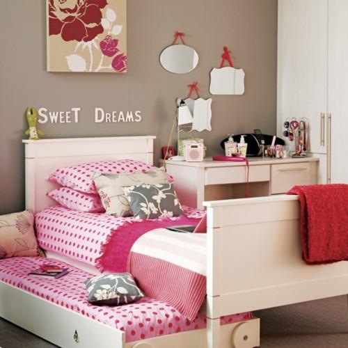 صور - غرف نوم بنات مزينة باحدث تصميمات الديكور