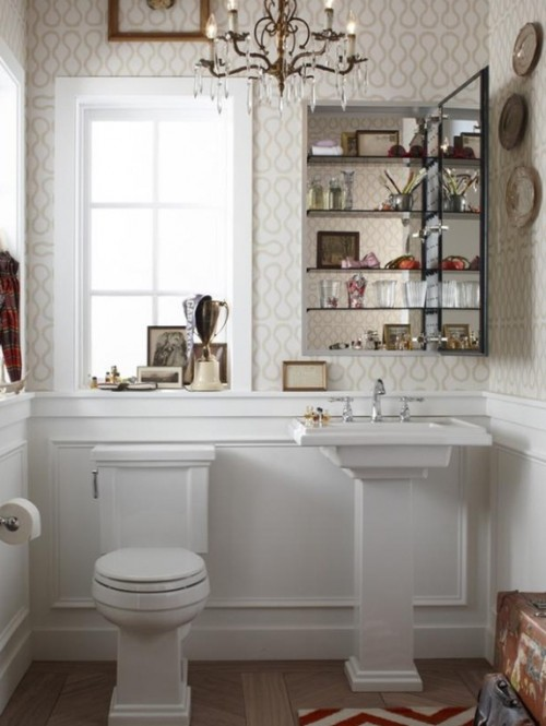 صور - ديكورات حمامات صغيرة تزيد مساحتها