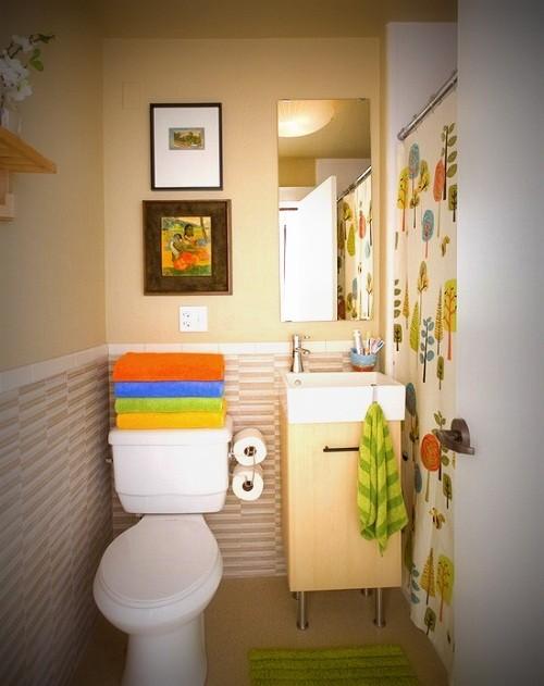 ديكورات حمامات صغيرة تزيد مساحتها