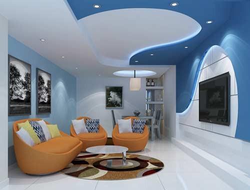 احدث افكار ديكورات والوان حوائط غرف جلوس مودرن بالصور   ماجيك بوكس