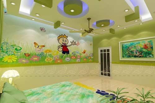 افكار ديكورات جبس غرف نوم اطفال مودرن بالصور