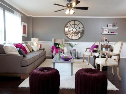 اللون الرمادي يحول غرف معيشة لغرف عصرية و متألقة   ماجيك بوكس