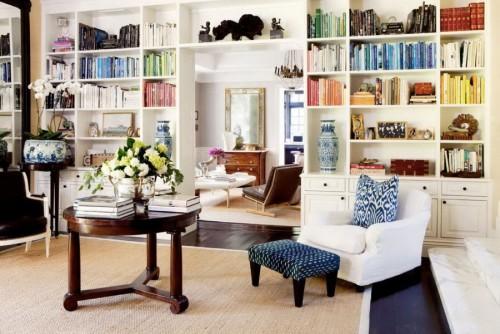 صور - كيف تختارين تصميم مكتبة الكتب ليناسب غرف الجلوس؟