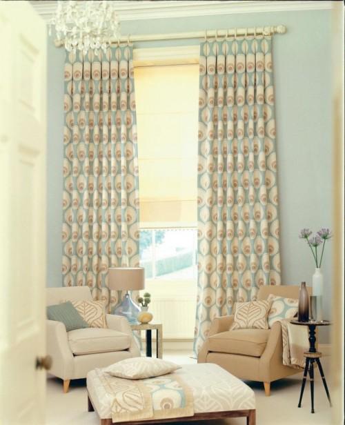 صور - اجمل تصاميم ستائر غرف الجلوس