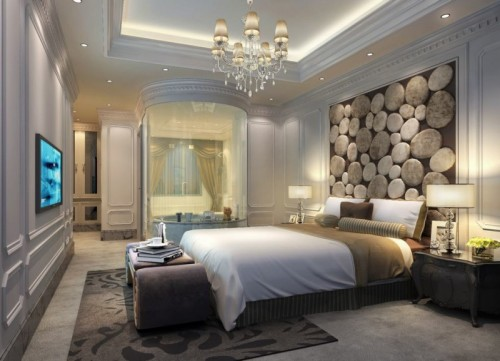 صور - اشكال من ورق الجدران لغرف النوم