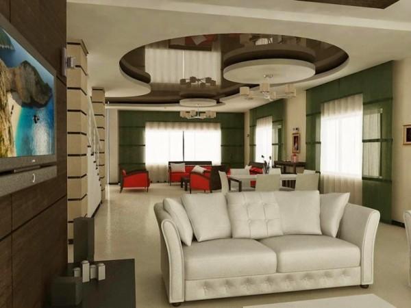 صور - تصاميم اسقف معلقة رائعة لغرفة المعيشة