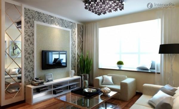 صور - كيف يتناسق اثاث غرفة المعيشة مع التلفاز ؟