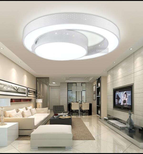 صور - اشكال اضاءة مودرن لسقف غرف المنزل