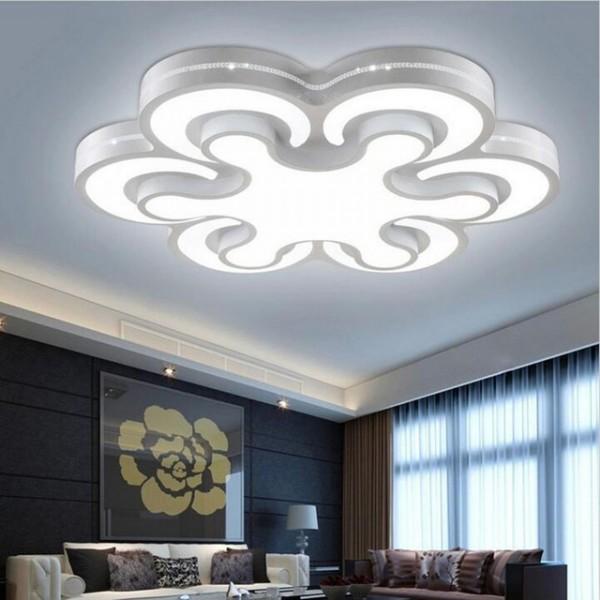 اشكال اضاءة مودرن لسقف غرف المنزل