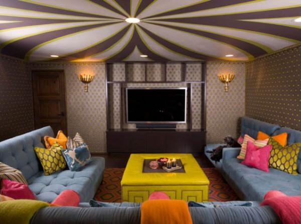 ديكورات اسقف جبس لغرف المعيشة رائعة الجمال