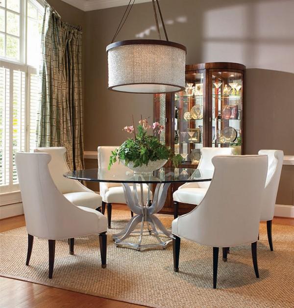 غرف سفرة مودرن مصممة من الزجاج رائعة الجمال