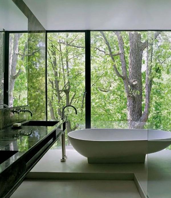 صور - ديكورات حمامات باللون الاخضر رائعة الجمال