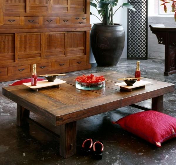 طاولات طعام بسيطة و انيقة على الطراز اليابانى