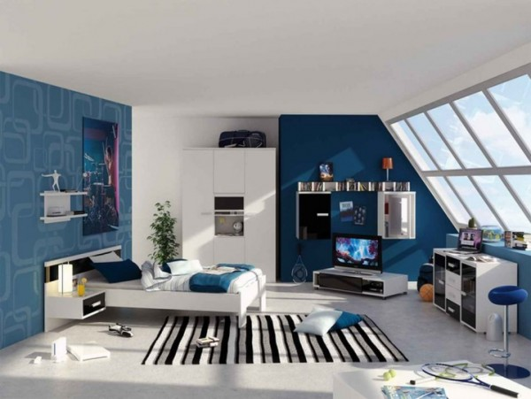 افكار ديكورات غرف نوم للشباب المراهقين بالصور