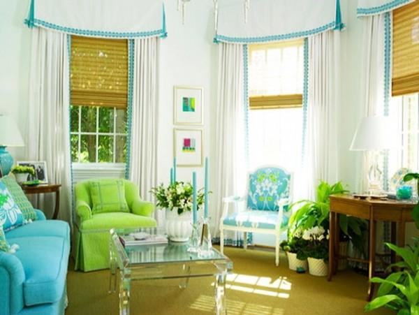 تصميمات ستائر غرف جلوس بسيطة و جذابة بالصور   ماجيك بوكس
