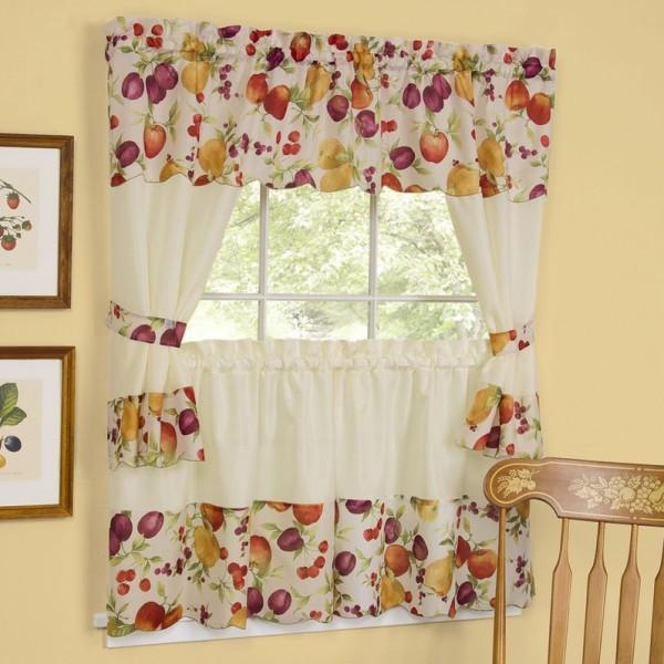 Vintage Kitchen Curtains Ideas: موديلات ستائر مطبخ ملونة رائعة الجمال بالصور