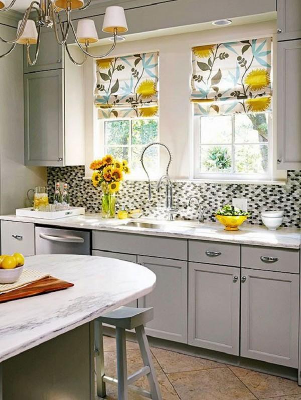 صور - موديلات ستائر مطبخ ملونة رائعة الجمال بالصور