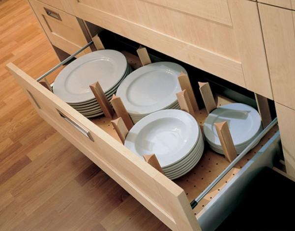 صور - كيفية استخدام الادراج فى تنظيم وترتيب المطبخ ؟