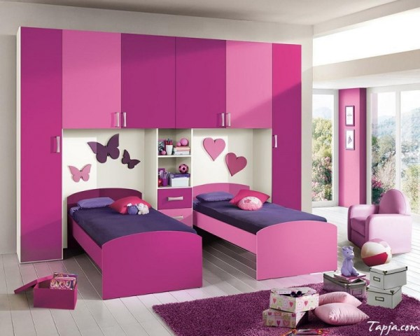 اجمل ديكورات غرف نوم اطفال بنات توأم ماجيك بوكس