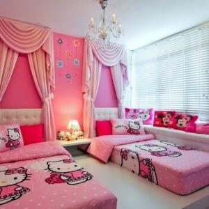 اجمل ديكورات غرف نوم اطفال بنات توأم