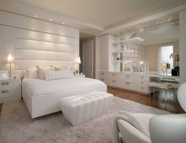 اشيك تصاميم غرف نوم بيضاء مودرن   ماجيك بوكس