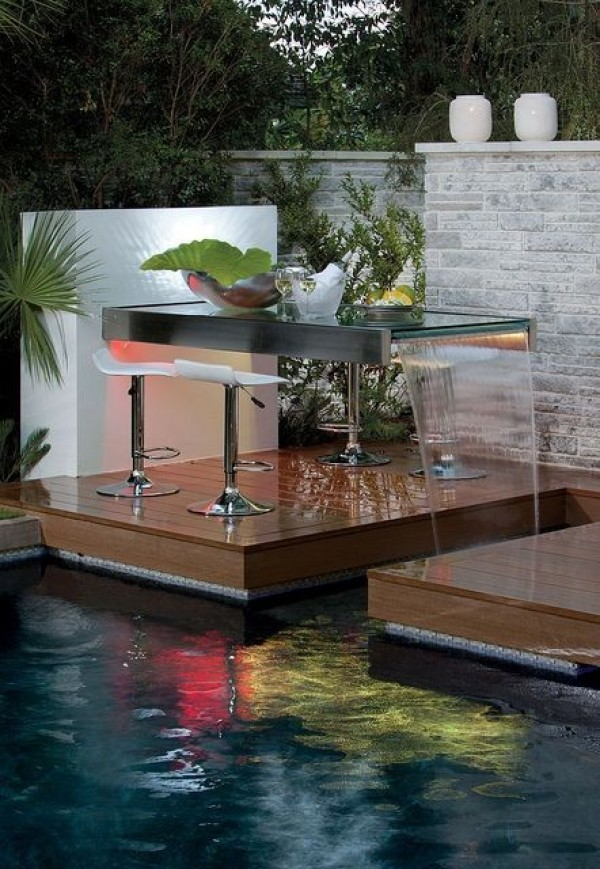 تصميمات شلالات منزلية للحدائق مذهلة