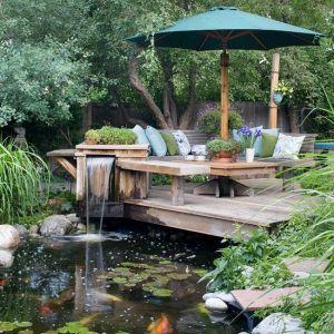تصميمات شلالات حدائق منزلية مذهلة