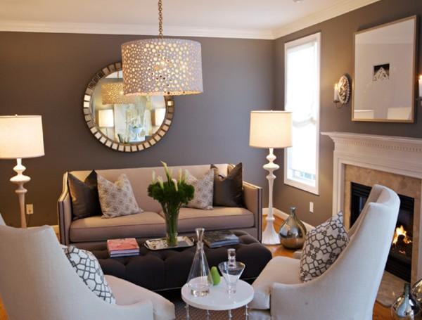 صور - كيف تختاري اشكال المرايا تناسب غرف المعيشة المودرن ؟