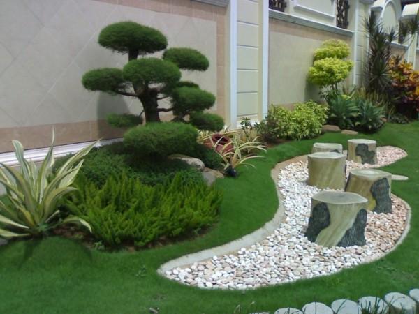 صور - اجمل تصميمات حدائق منزلية يابانية ( حدائق زن )