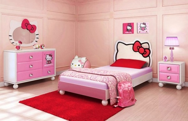 اجمل تصميمات غرف نوم هيلو كيتي للفتيات   ماجيك بوكس
