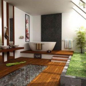 اجمل صور ديكورات الحمامات الخشبية