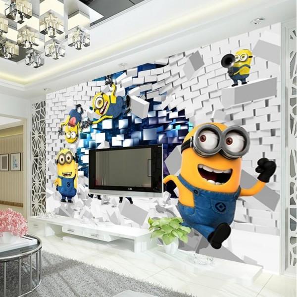 صور - ديكورات غرف الاطفال المودرن باشكال المينيون المثيرة