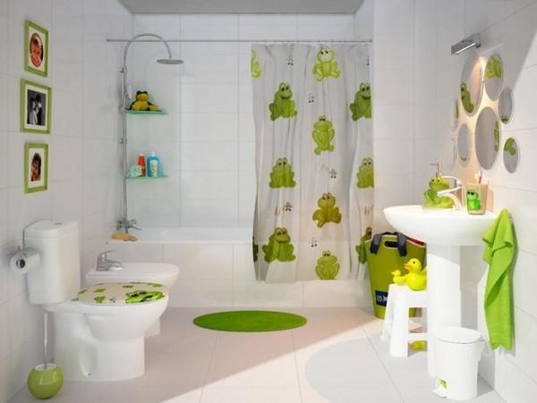 صور - اجمل تصميمات الحمامات الملونة للاطفال