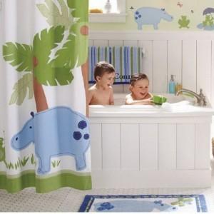 اجمل تصميمات الحمامات الملونة للاطفال