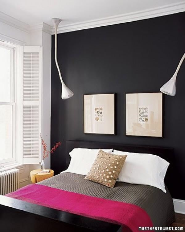 صور - احدث صور دهانات غرف النوم باللون الاسود
