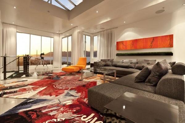 صور - اشيك تصاميم غرف المعيشة العصرية بالوان جريئة
