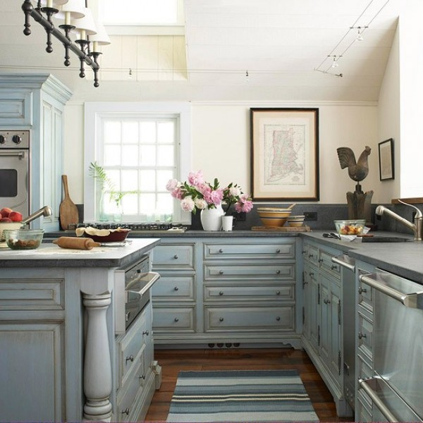 صور - اشيك تصاميم المطابخ المودرن بالالوان الهادئة