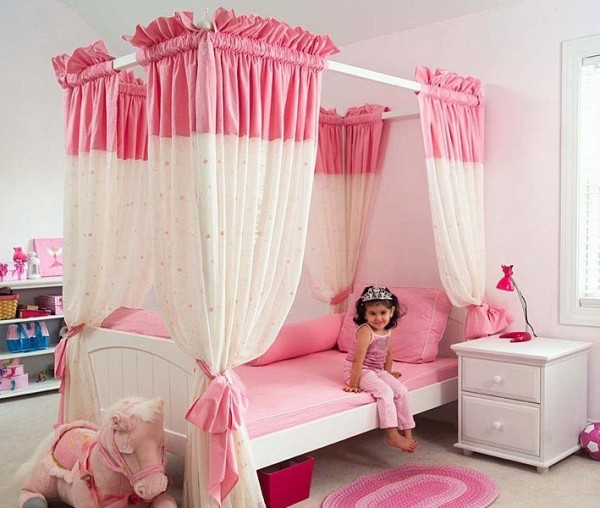 صور - اجمل تصاميم والوان ستائر غرف البنات