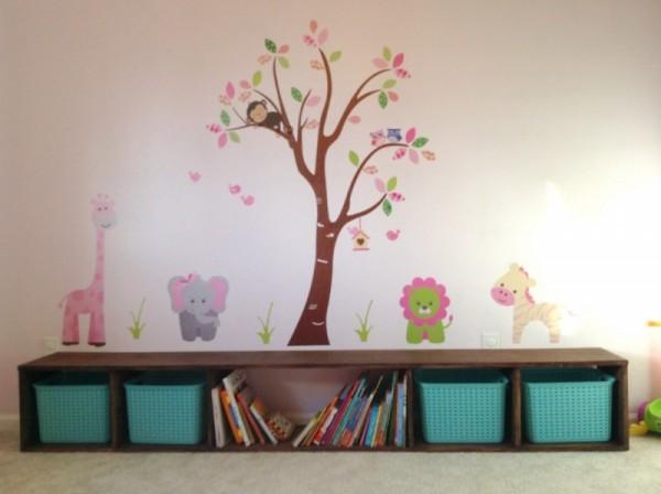 اشكال مثيرة من خزائن الاحذية لغرف نوم الاطفال