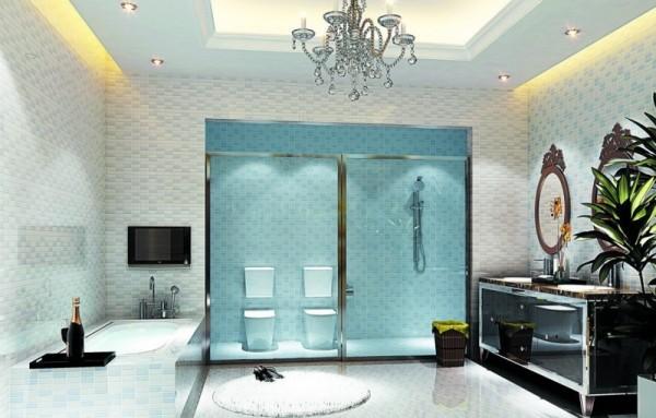 صور - تصاميم مثيرة من اسقف الحمامات باضواء حديثة